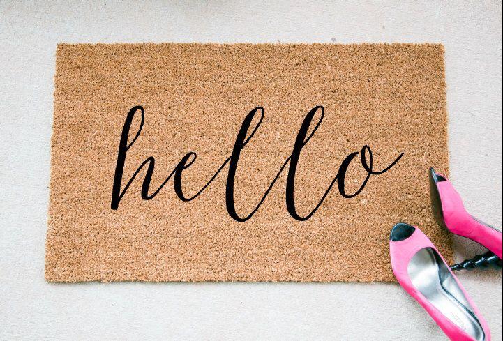 Hello Doormat - Funny Doormat - Welcome Mat - Funny Rug - Reminder Rug - Sassy…