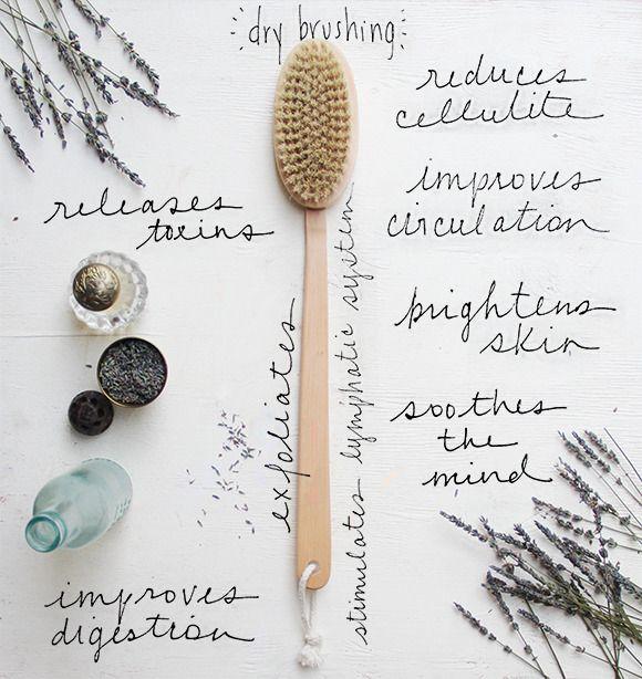 Dry brush everyday to detoxify and exfoliate the skin. #SkincareTip ~ BeASkincareSpecialist.com