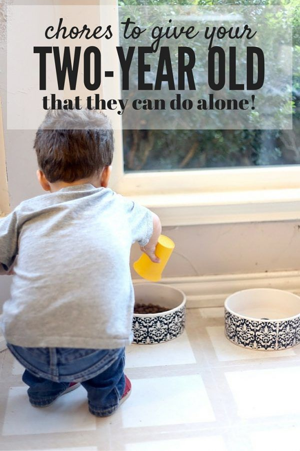 Need some ideas for how to keep your toddler busy around the house? Toddlers love to help! Here are some ideas for chores to give your two-year old that they can actually accomplish on their own.