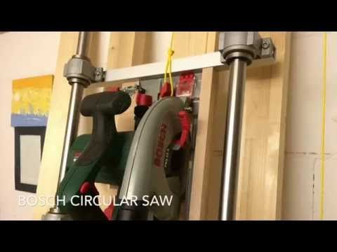 Homemade Vertical Panel Saw - YouTube