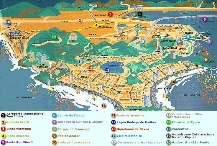 mapa turismo Rio de Janeiro
