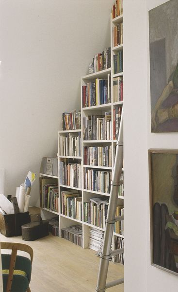 Bibliothèque mansardée