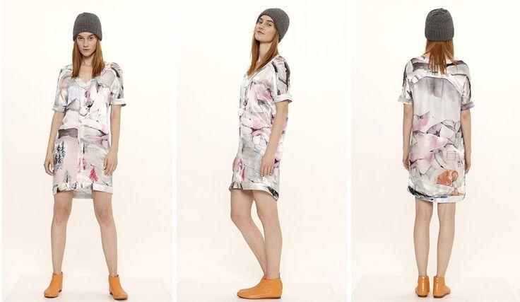 Dori Tomcsanyi digital print tailored silk dress.  Available from September at the webshop. http://doritomcsanyi.com/