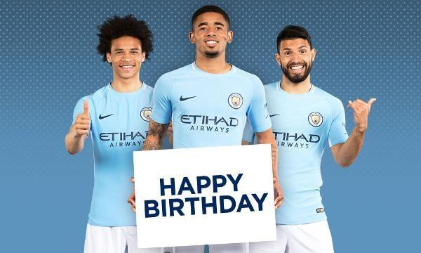 3d5f122fea03 Happy Birthday Cityzens Leroy Sane Manchester City, Happy Birthday, Happy  Brithday, Urari La