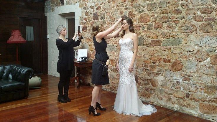 Davroe Haircare working their magic on our models hair -- 2015 bridal launch photo shoot // Nicholas Purcell Studio