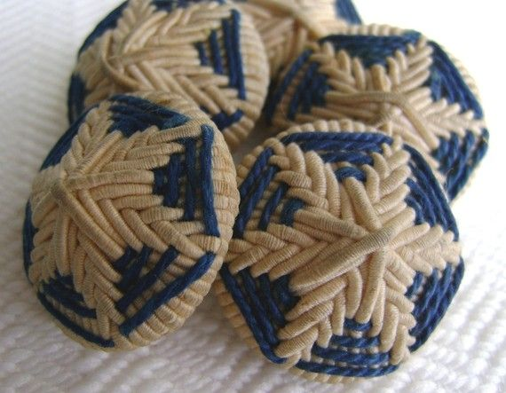 vintage Victorian hand embroidered buttons