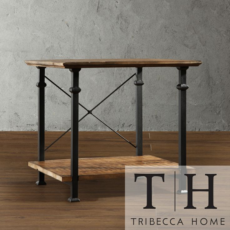 Tribecca Home Myra Vintage Industrial Modern Rustic End Table Shopping The