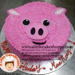 Pig customised cake. A Little CakeShoppe Singapore