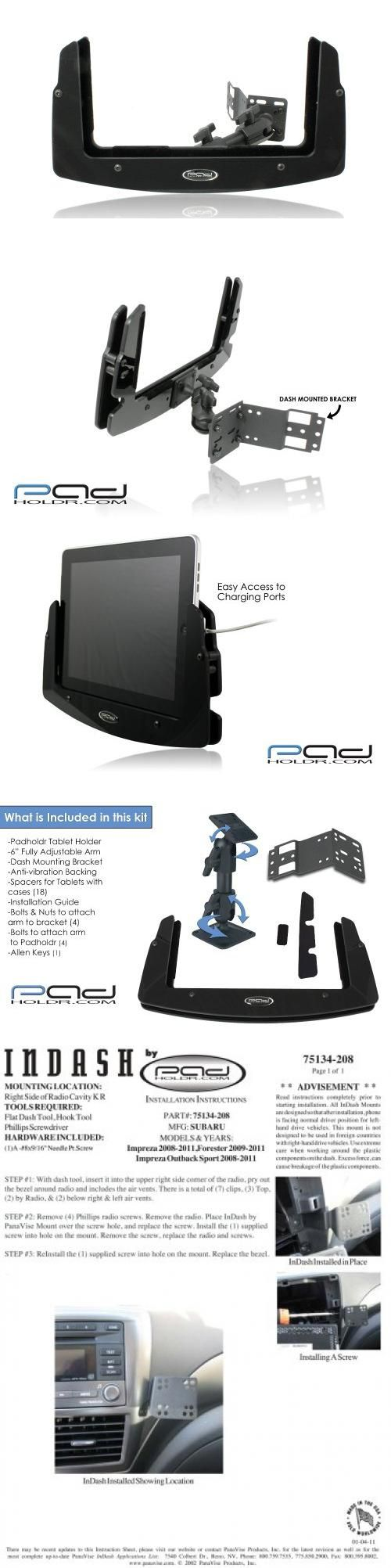 Padholder Edge Series Premium Tablet Dash Kit 2008-2012 Subaru Impreza & Forester for iPad & Other Tablets Fits: 2009 - 2012 Subaru Forester. Fits: 2008 - 2012 Subaru Impreza & 2008 - 2011 Subaru Impreza Outback Sport. Works with: all iPad's except mini, Xoom 1,2, Galaxy Tab 10.1, Asus Transformer, Acer Iconia A500, HP TouchPad, Otterbox Cases, Life Proof Cases, Thrive, Gateway A60 & More. Include... #PADHOLDR #Car_Audio_or_Theater