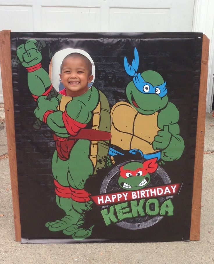 Teenage Mutant Ninja Turtle - Photo Cut Out Poster - INSTANT DOWNLOAD