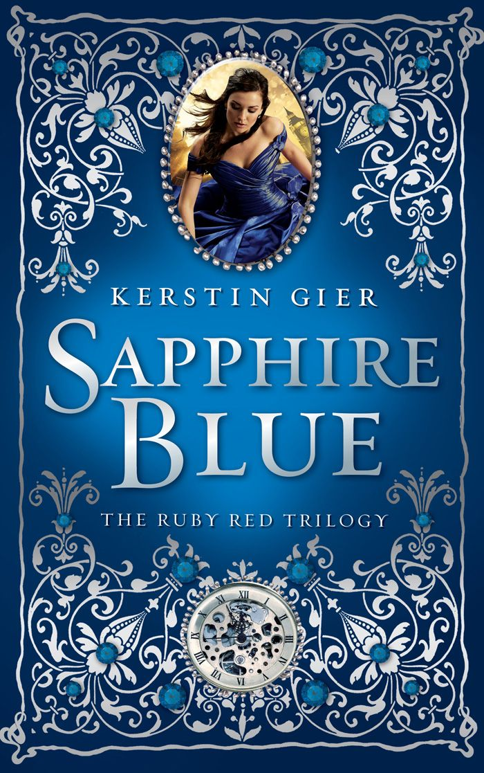 Sapphire Blue by: Kerstin Gier. This book was just as confusing as the first, although I am very curious as to how heroine Gwenyth Shepard's love/hate relationship with fellow time traveler Gideon de Villiers pans out. In addition, I am eager to discover the secret Paul and Lucy are trying to hide from the everyone, and who Gwenyth should actually trust: her heart, her family, or the Inner Circle who thinks of her as a stupid little girl.