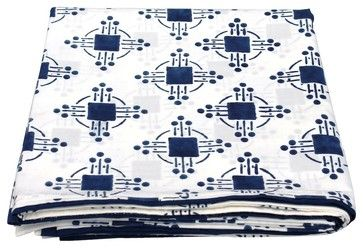 Thomas Nautical Blue Flat Sheet eclectic-sheets