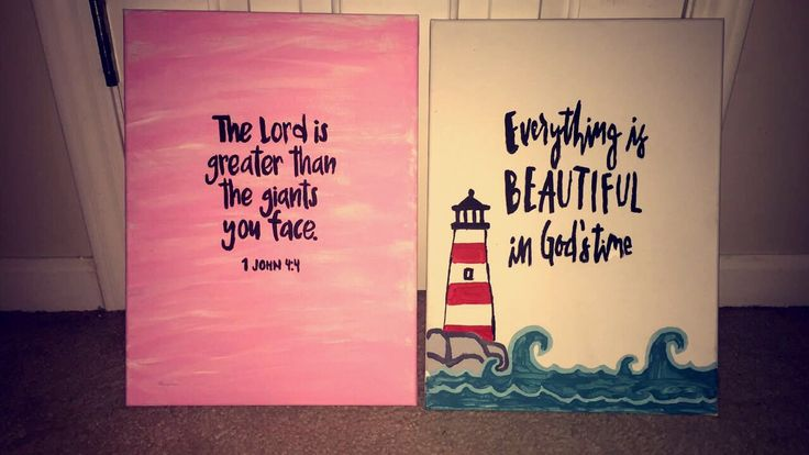 My diy paintings! #quote #lighthouse
