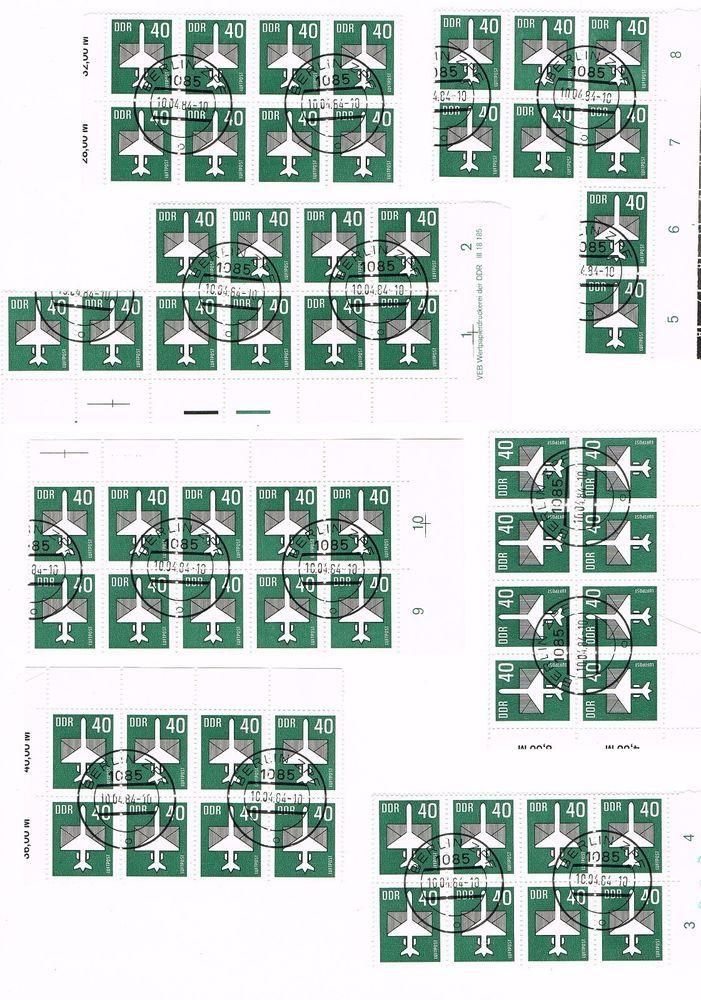 DDR 40 Pfennig 1984 - 40 Pfennig - gestempelte Briefmarken in sehr gutem Zustand