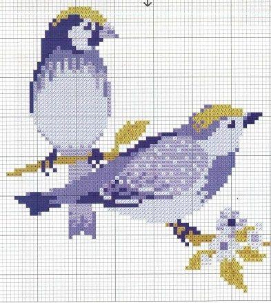 two birds cross stitch