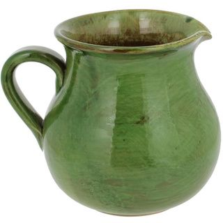 French Home Cilantro Italian Stoneware Traditional Pitcher