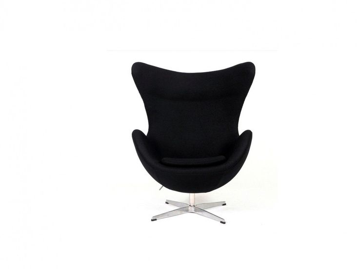 This replica Arne Jacobsen Egg Chair is a true iconic classic, a timeless piece of modern furniture. This Egg Chair is an inspired reproduction of Arne Jacobsen's famous Egg Chair, designed in 1956. True to the original, this quality chair has a molded fiberglass frame and is padded with multi density polyurethane foam, while the 4 star base of the chair is constructed of cast aluminium and plastic gliders protect the floor. This chair has a tilt and swivel function.