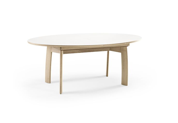 Skovby SM71 Extension Table in oak with white laminate top. In store now.