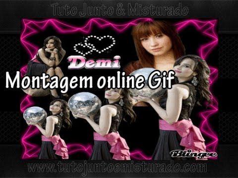 Montagem de fotos online Blingee (gif)
