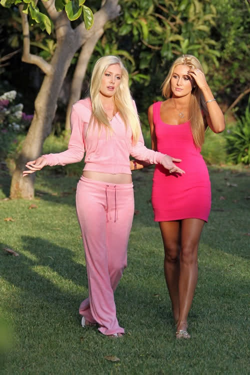 Heidi Montag and her friend Jen Bunney in L.A. in 2010 ...