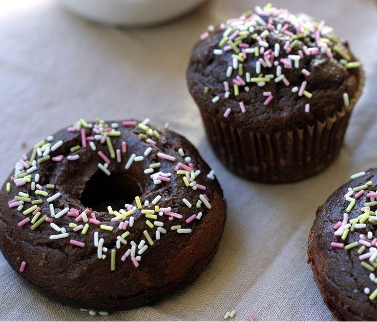 Gluten Free, Grain Free, Sugar Free, Chocolate Coconut Flour Donuts/Cupcakes