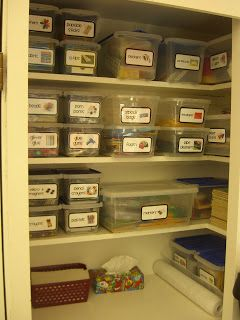 Classroom Organization .... this closet is like a dream come true!  My kind of organization :)