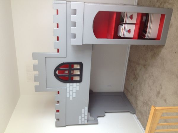 Boy S Castle Bunk Loft Bed Could Build With Higher Front Boys Room Pinterest Bedroom And