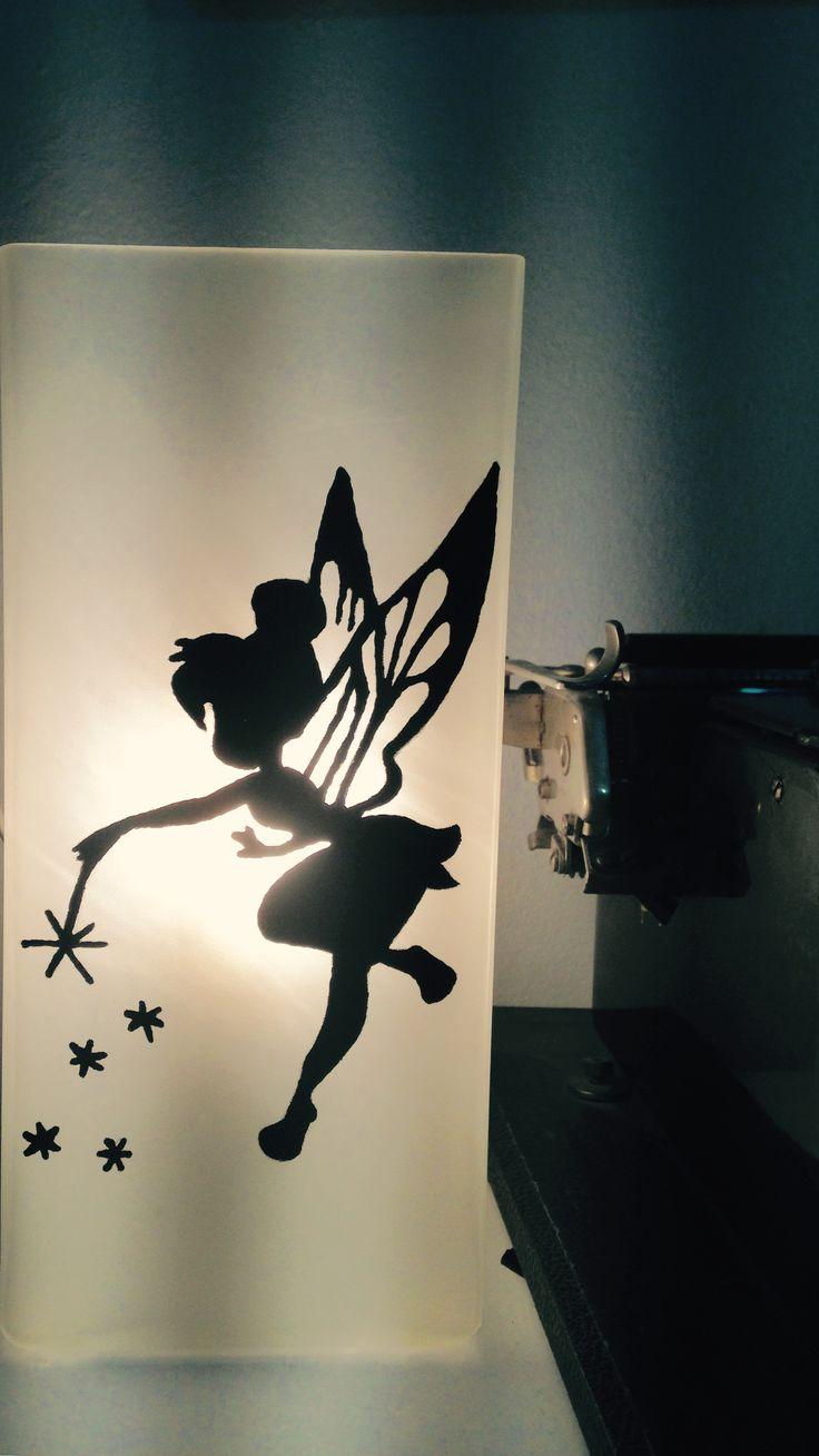 handpainted lamp