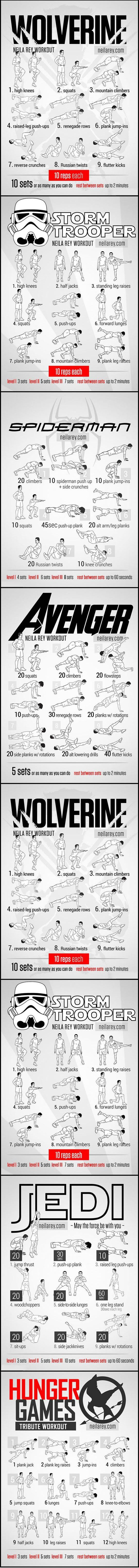 Movie workout routines.