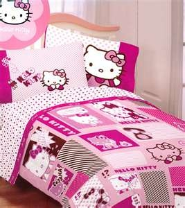 Hello Kitty Bedding Set Twin   Pink Comforter Sheets   Twin Bed From