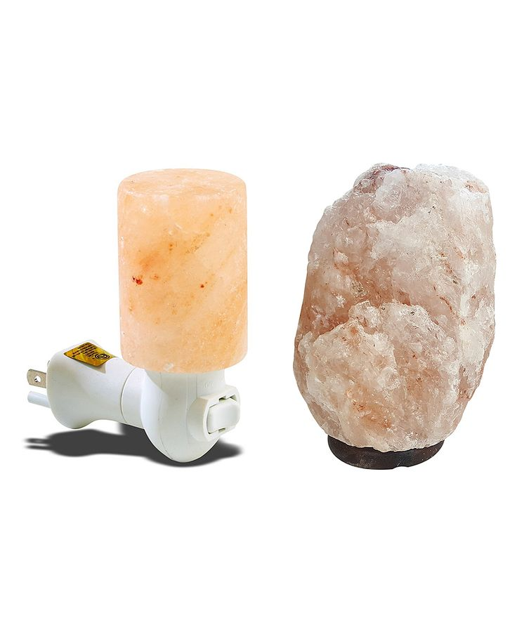 9'' Himalayan Salt Crystal Lamp & Night Light Set