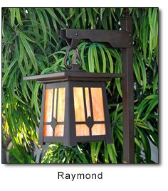 Craftsman style Garden Pathway Lighting - Perfect garden path lights for the Mission, Bungalow, Cottage or Arts and Crafts Garden Landscape