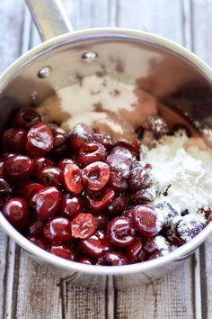 Hausgemachte Cherry Pie Füllung