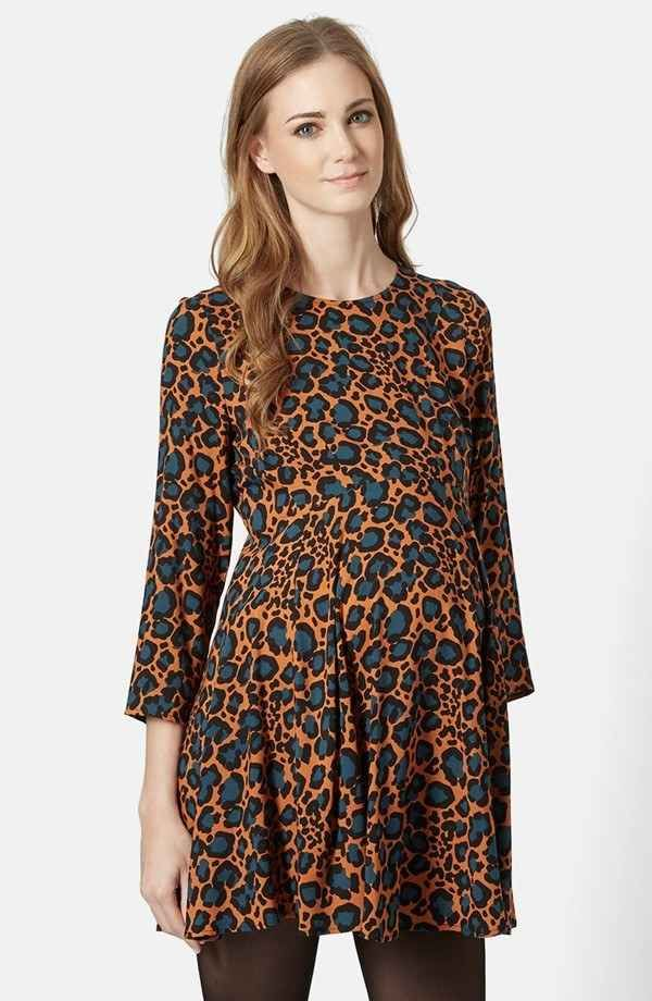 TopShop Animal Print Maternity Dress, $80