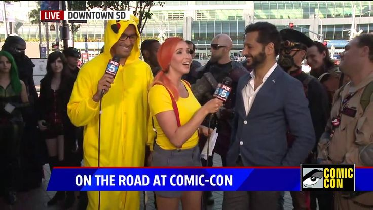 Total neat now can watch Cas Anvar made a stop by to these reporters FOX5 done at SDCC 2016.