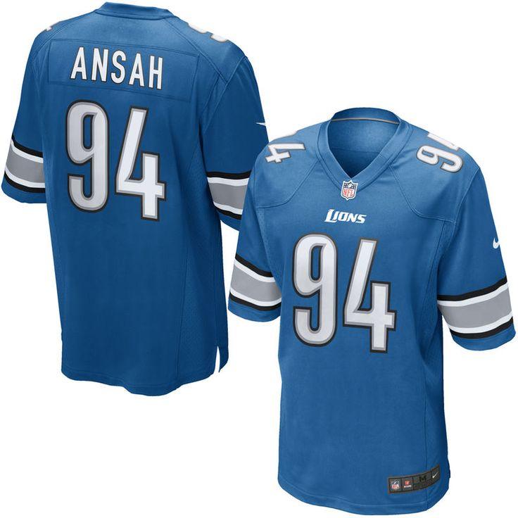 Ezekiel Ansah Detroit Lions Nike Youth Team Color Game Jersey - Blue
