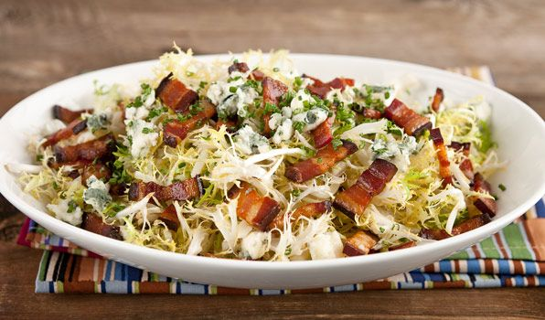 Frisée Salad with Warm Bacon Dressing