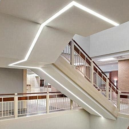 lighting a hallway. Linear Recessed LED Ceiling Luminaire (modular Lighting System) LPLR 2 A Hallway T