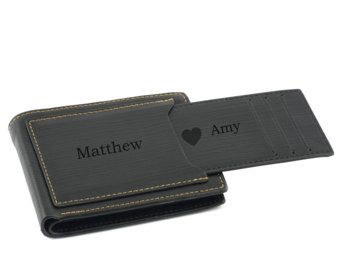 Mens Wallet Personalized Wallet Engraved Mens Wallet