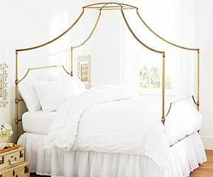 Gold canopy bed yahoo search sophia room pinterest for Gold bed canopy
