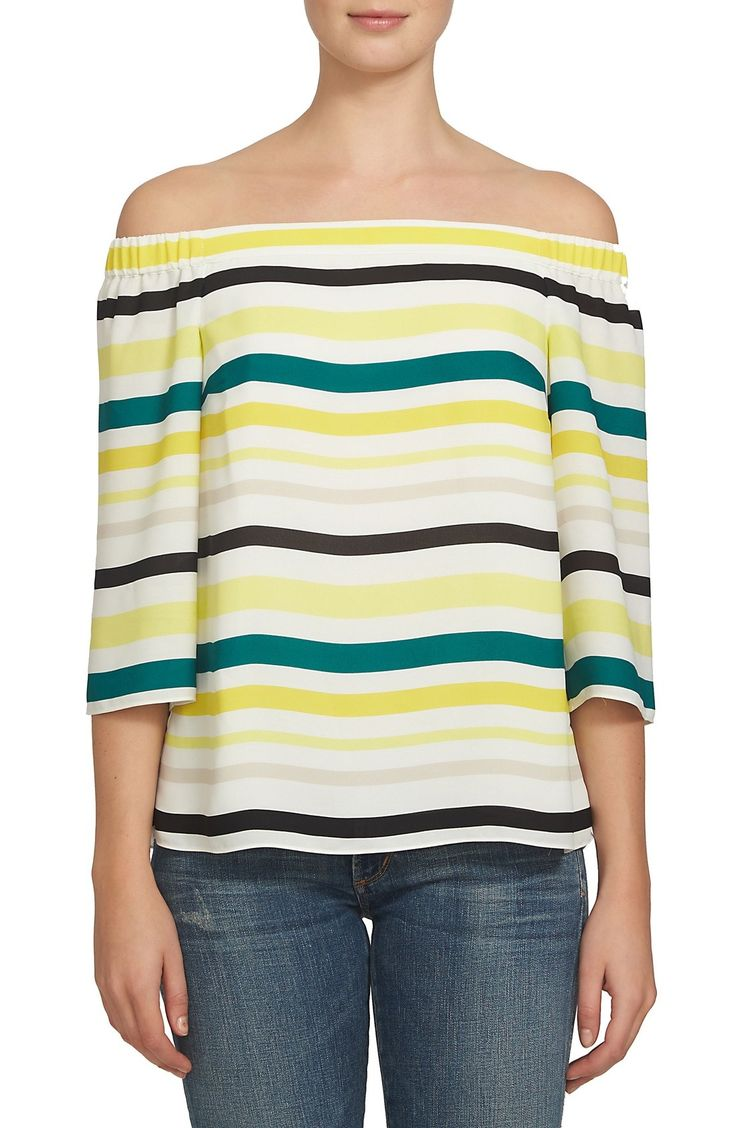 1.STATE Stripe Off the Shoulder Blouse available at #Nordstrom
