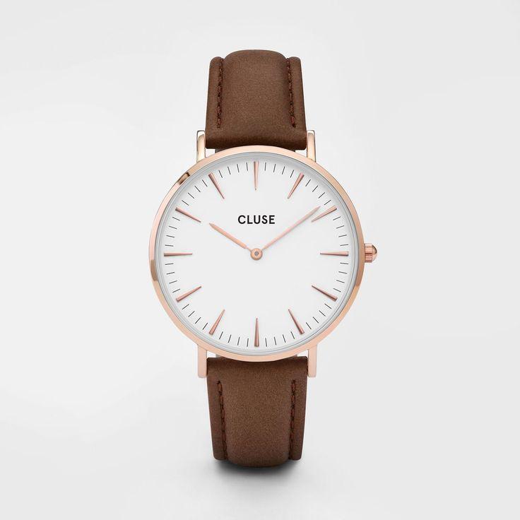 La Bohème Rose Gold White/Brown - Cluse Watches