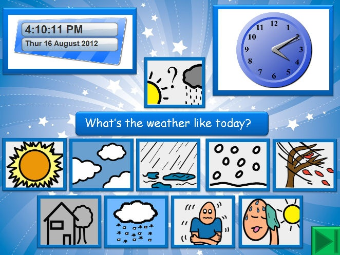 Colourful PowerPoint for your IWB that uses PCS symbols throughout. Has an integrated clock (analogue and digital) with the current date that updates automatically.