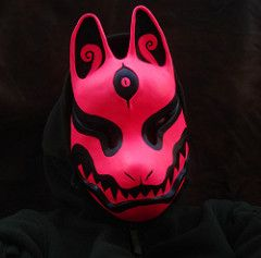 UV_kitsune3 (missmonstermel) Tags: glow mask uv kitsune missmonster