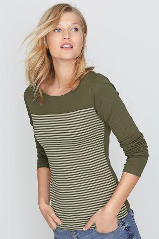 Buy Stripe Scoop Neck Top from the Next UK online shop