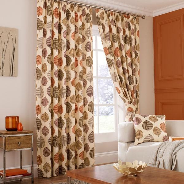 Terracotta Accessories Living Room Part - 34: Terracotta Regan Lined Pencil Pleat Curtains