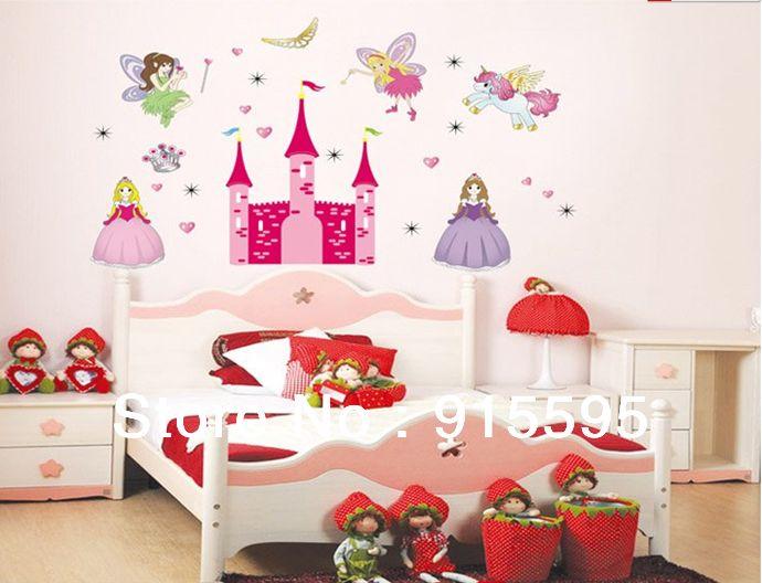 Exciting Korea Castle Diy Children Sticker Bathroom Background Sticker  Vinilos Wall Stickers For Kids Rooms Home Decor