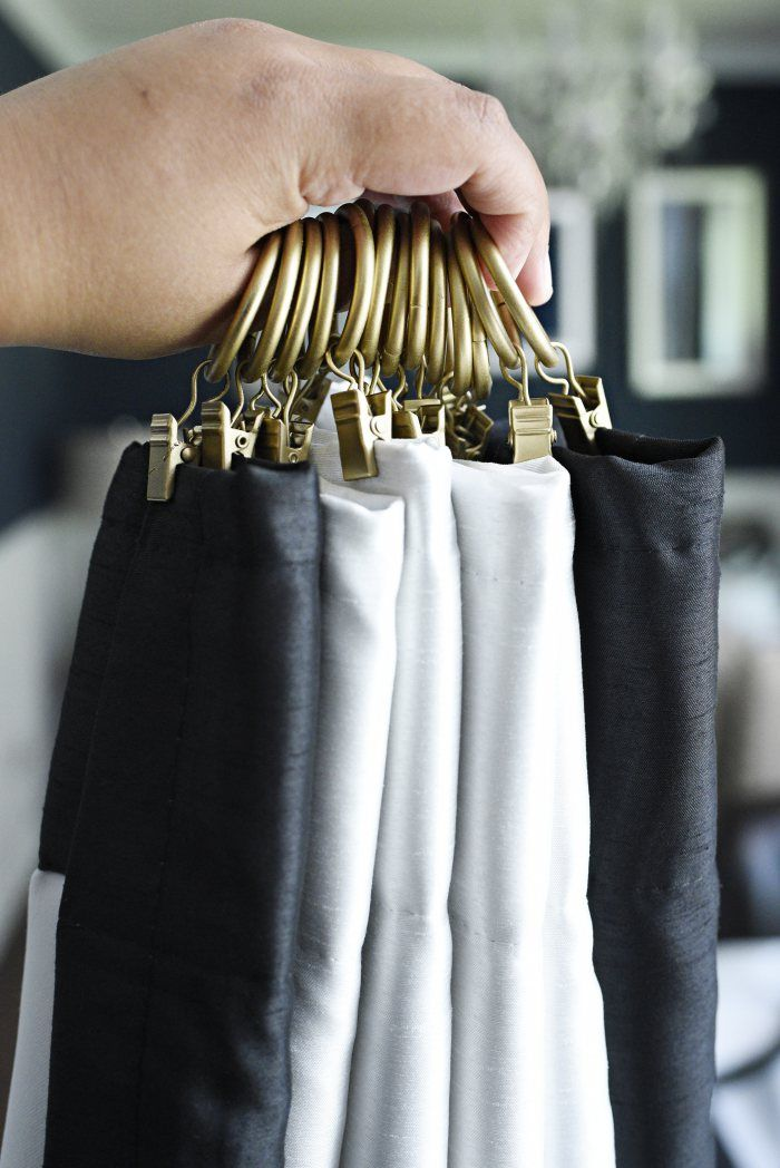 Charming How To Use Curtain Clips To Hang Curtains