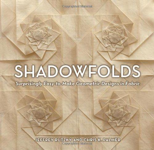Shadowfolds: Surprisingly Easy-to-Make Geometric Designs in Fabric by Jeffrey Rutzky, http://www.amazon.com/dp/1568363796/ref=cm_sw_r_pi_dp_zVu3pb1DSX3KG: Palmer, Easy To Make Geometric, Surprisingly Easy To Make, Books Worth, Geometric Designs, Fabrics, Shadowfolds, Fabric Manipulation