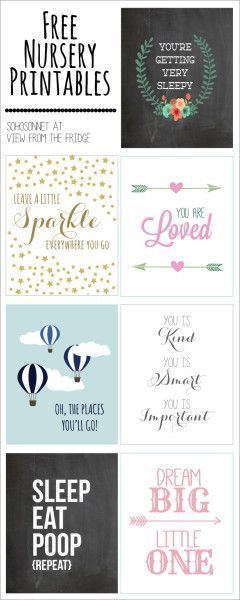 Nursery and Kids Printables